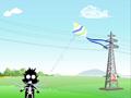 高压线下话安全系列动漫 - 风筝远离高压线
